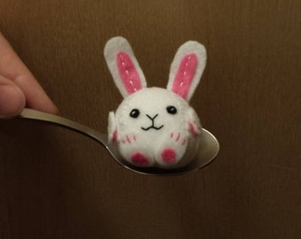 Tiny Stuffed Felt Bunny