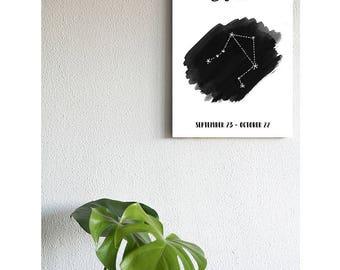 Constellation de la balance sur la toile