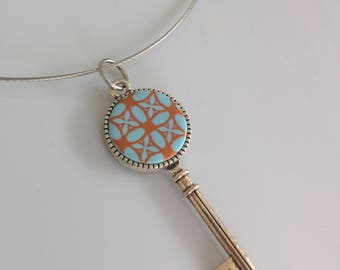 """Blue key"" pendant"
