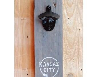Kansas City Western Auto Sign Bottle Opener