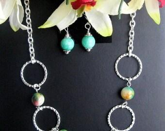 Multi-color Jade Necklace