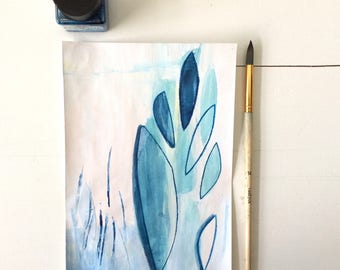 Drawing |Blue Stepping Stones