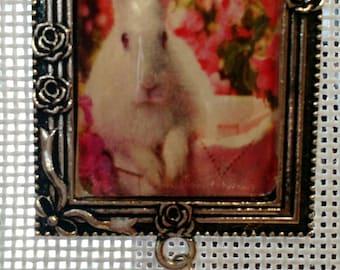 Pink Bunny Needle Minder