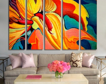 Flower Wall Art Flower Canvas Print Flower Large Wall Decor Flower Canvas Art Flower Painting Flower Poster Print Flower Home Decor