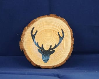 Stag Wooden Coaster