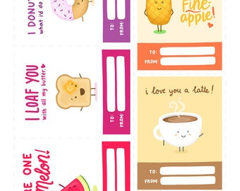 Food Themed Valentines