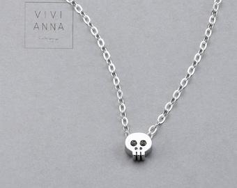 Mini Skull Necklace 925 silver N007