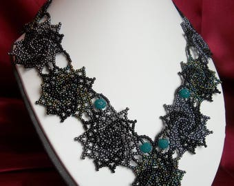 Necklace Stars with green