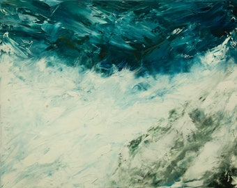 The Wave, original oil painting on stretched canvas