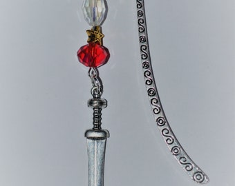 Roman Gladius Sword Bead Bookmark in English Pewter and Gift Boxed,