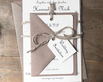 Lace & Twine invitation bundle