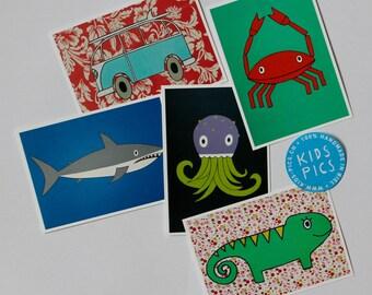 "Postcardset ""Sea Animals"""