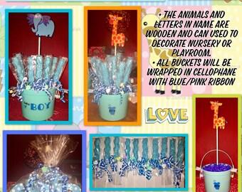 Baby Shower Lollipop Centerpieces