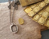 Sample Sale - If I lose you - One of a Kind wax seal pendant