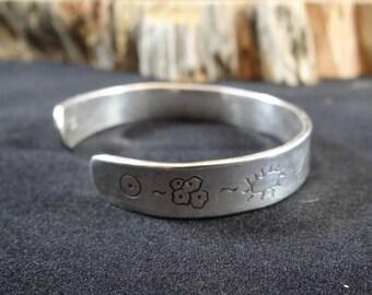EVOLVE 1 - Sterling Silver Darwin Fish Engraved Bracelet