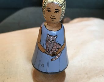 Little Alice in Wonderland Deepings Doll with kitten