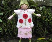 Poppy Pixie Art Doll Ornament OOAK