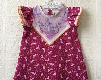 Bunny print dress toddler girls Supayana SS2018 easter