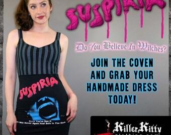 Suspiria Horror Movie Striped Tank Top Dress Horror Merch Halloween Goth Witch Occult Wicca