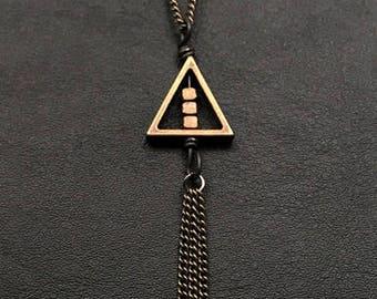 Geometric Triangle Minimalistic Necklace