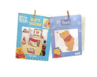 Winnie The Pooh Counted Cross Stitch Kit & Book