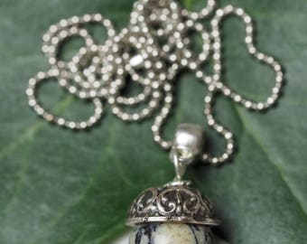 African Opal Acorn Pendant on a chain - Fertility, Strength & Courage - Pagan, Oak, Woodland, Forest