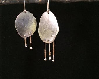 Mismatched Sterling Silver Dangle Earrings