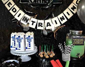 Custom Jedi-Inspired Paper Garland Party Banner, Star, Wars, Return of, Jedi, custom banner, party garland, birthday sign, star birthday