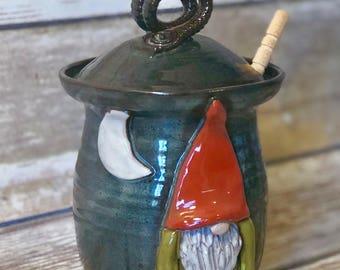 Gnome Moon Honey Pot