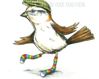 Happy Weird Sparrow