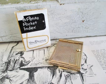 Little Vintage Pocket Phone Index