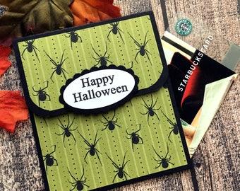 Halloween Gift Card Holder for Kids - Halloween Cards - Halloween Money Card -  Spooky Spider Halloween Gift Card Envelope
