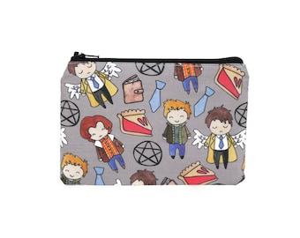 Supernatural Pouch / Sam Dean Winchester Camera Bag / Castiel Make Up Bag