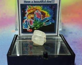 PHENACITE Mt. Antero Colorado USA (Phenakite) Top Quality Double Terminated Crystal In Perky Specimen Box From Chaffee County Colorado Rare