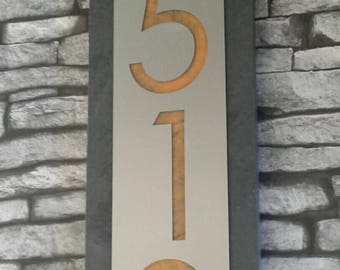 Modern advantage simple home numbers 8x8 inches for two for Minimalist house numbers