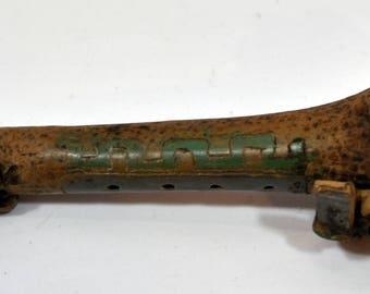 Antique Clay Flute, Snake, Primitive Aztec, Mayan, Inca, Mexico,