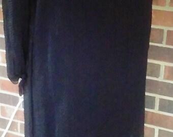 Black Sheer Silk Short Overdress