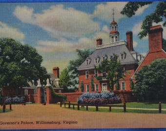 Governor's Palace Williamsburg Virginia Linen Postcard