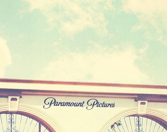 Los Angeles photography, Paramount Pictures photograph, Hollywood California, film studio, cinema lovers, movies, gates, i love LA, actors