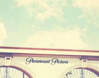 Los Angeles photography, Paramount Pictures photograph, Hollywood California, film studio, cinema lovers, movies, gates, i love LA, actors