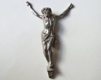 Vintage Metal Wall Crucifix Piece - Religious Icon - Jesus Christ without a Cross