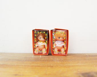 "vintage 70s Sekiguchi Baby Alphalpha Collectible Dolls 3"" Made in Japan // Cutest Little Dolly"