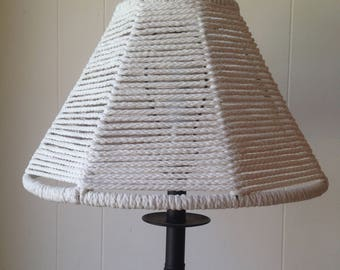 White Macrame Lamp Shade
