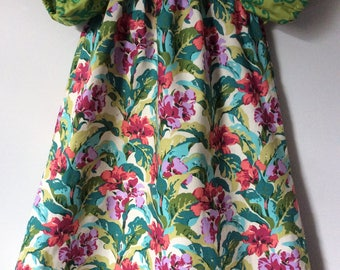 Funky floral dress, size 4t