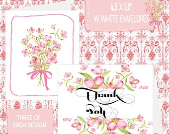 Blossoms Note Card Set-Thank You Notes-Stationery