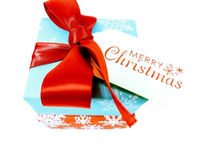 Snowflake Wrapped Christmas Gift