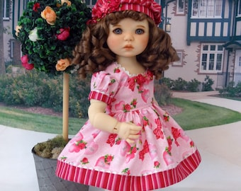 My Love - vintage style Valentine dress with shoes for American Girl doll