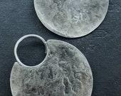 Full Moon - Lunar Hoop - Earrings for Gauged Ears - 12 Gauge Sterling Ear Wires