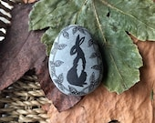 stone - hare waits in the thicket
