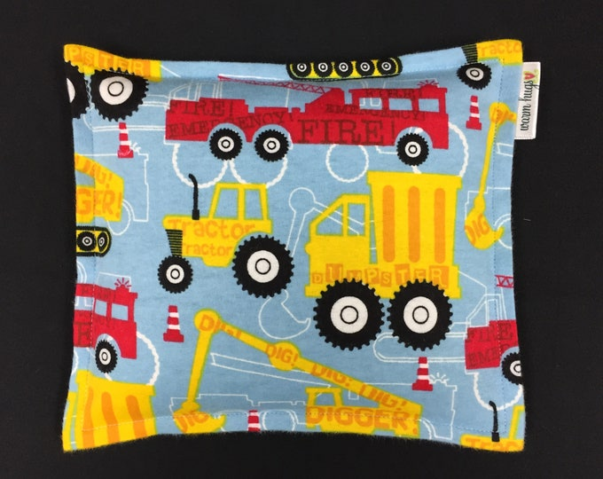 Flannel Corn Bag Heating Pad, Microwave Heating Pad, Heated Bag, Children's Corn Bags, Cold Pack, Relaxation Gift, Get Well Gift, Trucks
